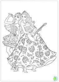 Barbie Rockstar Coloring Pages Barbie Princess And The Coloring