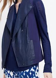 details about vs nwt vince cotton leather women vest jacket size s 695
