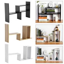 diy wooden book shelf storage rack office desktop organizer desktop storage rack