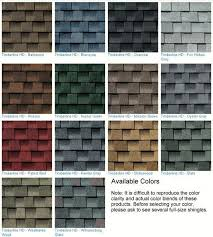 Shingle Color Chart Gaf Vs Owens Corning Shingles Cryptoletter Co