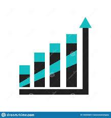 Data Chart Icon Data Analytics Upgoing Bars Chart Icon Vector Sign And