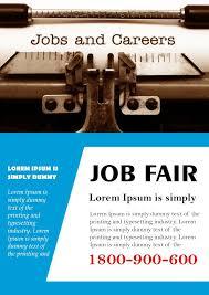 Flyer Jobs 10 Convincing Job Fair Flyers In Word Psd Templates