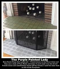 the purple painted lady mary roach kleps fireplace french linen pure white before after
