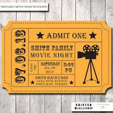 Movie Night Invitation Template Free Printable Movie Night Tickets Download Them Or Print