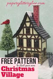 christmas house template make a unique beautiful christmas village house paper