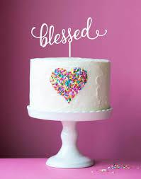 buy wedding cake toppers brisbane custom & personalised wedding Wedding Cake Toppers Brisbane Queensland acrylic cake topper blessed jpg Romantic Wedding Cake Toppers