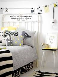 Black White Yellow Bedroom Ideas 3