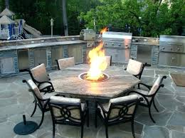 dining table sets awesome indoor outdoor patio fire pit set stone gas din