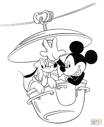 Small Picture Mickey With Pluto coloring page Free Printable Coloring Pages