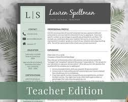 Teacher Resume Template Free Templates Data