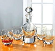 whiskey decanter set with tray