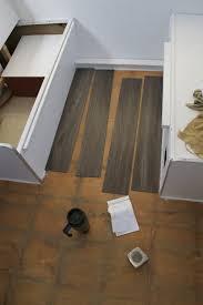 image of interlocking vinyl plank flooring home