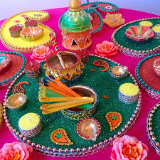 Mehndi Tray Decoration Homemade Mehndi thaals and baskets Wedding ideas Pinterest 7