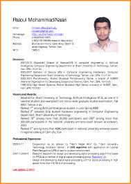 8 English Cv Examples Reporter Resume
