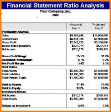 financial analysis example sample of financial statement analysis