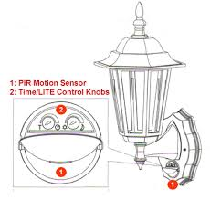 the lite adjustment determines at what daylight lux level the lighting system will start operating when the motion sensor is set at auto mode