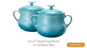 le creuset soup pot. Set Of 2 Small Soup Bowls In Caribbean Blue - Le Creuset Pot M