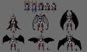 dota2 queen of pain bounded by chains polycount