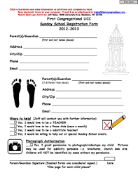 School Application Forms Templates 132 Printable Sunday School Registration Form Templates Fillable