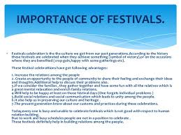 essay on importance of festival in  importance of festivals in our life important