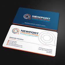Computer Card Design Elegant Playful It Company Business Card Design For
