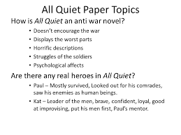 all quiet on the western front ppt video online 7 all quiet paper topics