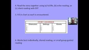 Story Grammar Comprehension Story Grammar