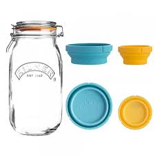 kilner measure and set 2l jar 60ml and 125ml cup