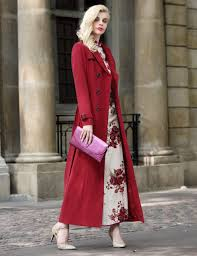 diffees long sleeve red ball evening party ball cocktail maxi women trench coat dresses