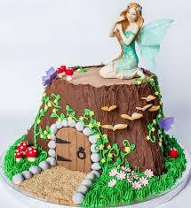 Fairy Garden Tree Stump House Cake Cakes Fairy Garden Cake