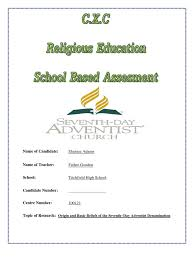 Religious Education S B A Seventh Day Adventist Church Christian