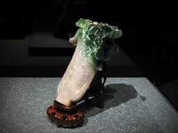 dowry jadeite cabbage jin received it as part of her dowry for her wedding to guangxu in 1889 originally displayed in forbidden city beijing