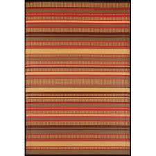 stripes warm brown outdoor mat
