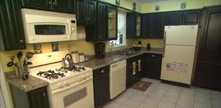 Wonderful Kitchens With Dark Cabinets And White Appliances After Kitchen Slideshow Homeowner Intended Design