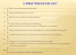 Learning Objectives Preparing For A Job Interview