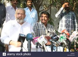 CID Police official Chaudhry Aslam and Ali Raza addresses to media Stock  Photo - Alamy