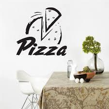 pizza wall decals vinyl removable restaurant wall decor sticker food interior design wall stickers for kitchen on removable wall decor stickers with pizza wall decals vinyl removable restaurant wall decor sticker food