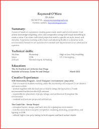 Bunch Ideas Of Visual Effects Artist Resume Production Artist