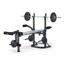 york 6600 weight bench. york fitness b501 barbel bench with standard spinlock barbell and weight plates 6600