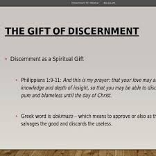 the gift of discernment