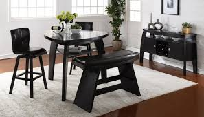 black dining room set with bench. Black Dining Room Set With Bench