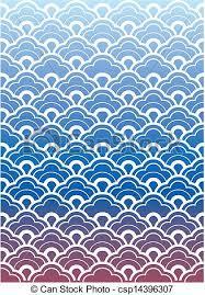 Japanese Wave Pattern Custom Japanese Wave Pattern Wallpaper Illustration Style