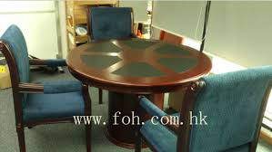 small round meeting table wood veneer finished fohr 01
