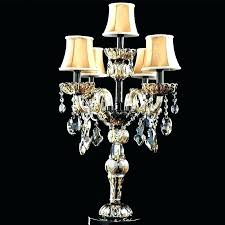 tabletop chandelier lamp crystal