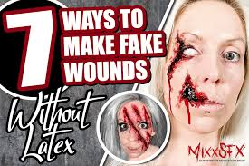 7 tutorials on how to make fake wounds without liquid latex