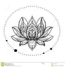 красивый восточный детальный цветок лотоса стильная идея