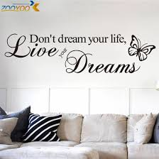 don t dream your life quotes wall stickers home decor living room decoration vinyl wall decals 8142 diy wallpaper art in wall stickers from home garden on  on vinyl wall art quotes for bedroom with don t dream your life quotes wall stickers home decor living room