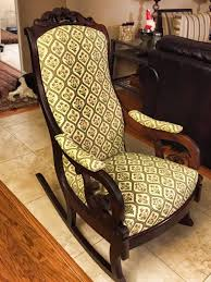 I reupholstered a rocking chair for a neighbor. Can anyone give us any info.