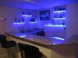 just got this picture from one of our customers who installed six of our illumishelf led floating wall shelves in their home bar in highlands ranch co