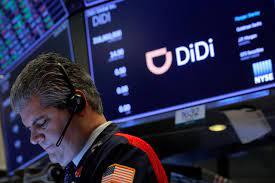 Didi's stock price falls after China ...